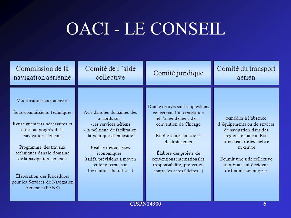 OACI - LE CONSEIL Commission de la navigation aérienne