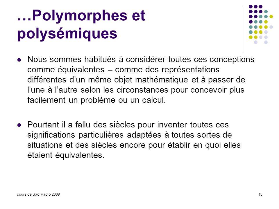 …Polymorphes et polysémiques
