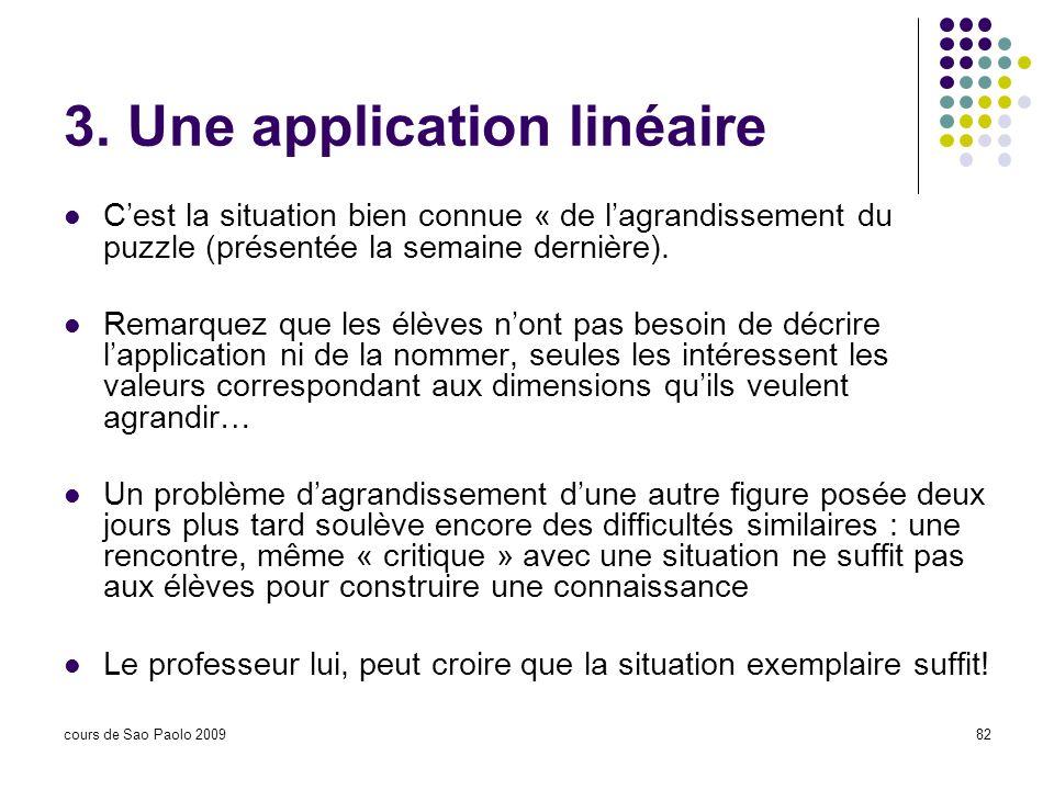 3. Une application linéaire