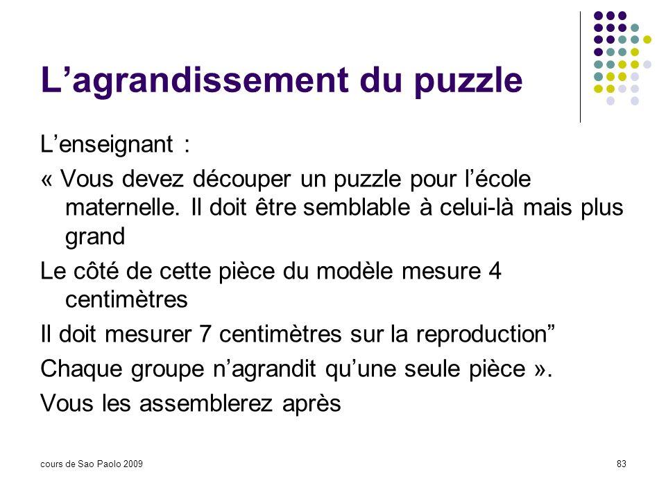 L'agrandissement du puzzle