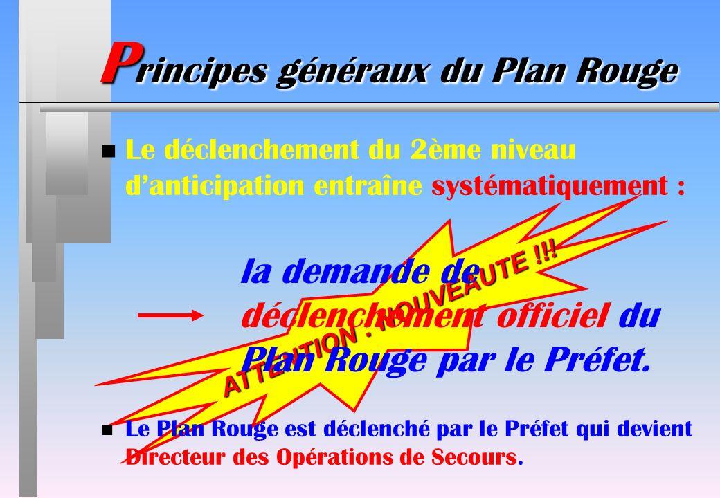 Principes généraux du Plan Rouge