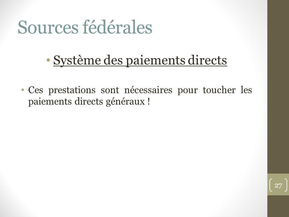 Système des paiements directs