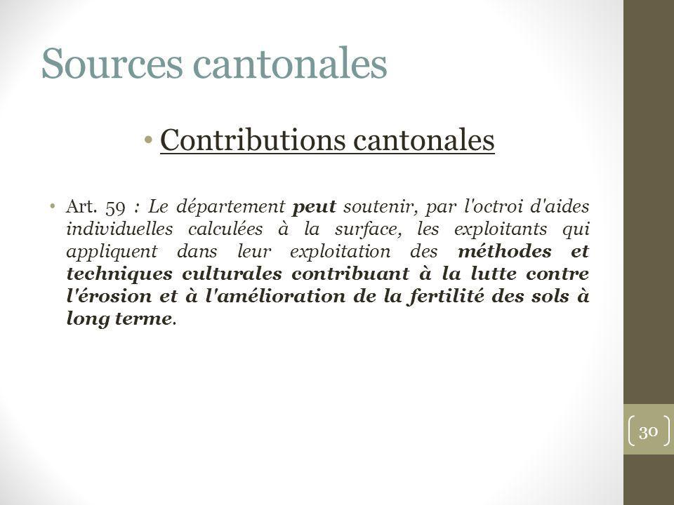 Contributions cantonales