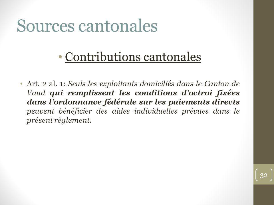 Contributions cantonales