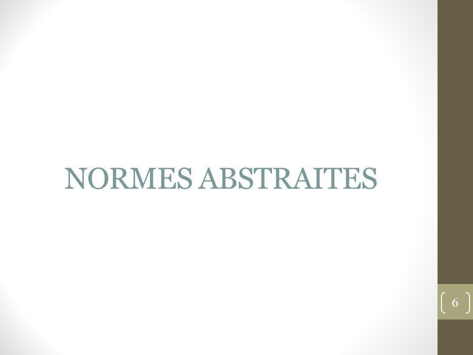 NORMES ABSTRAITES