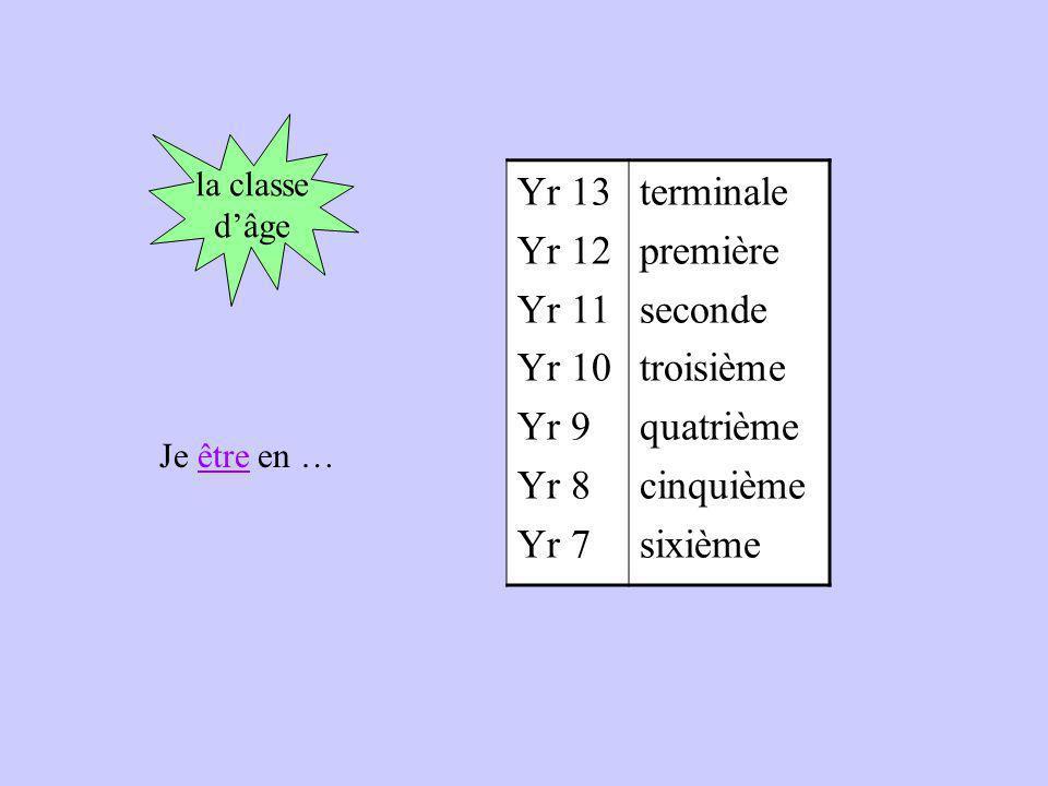 Yr 13 Yr 12 Yr 11 Yr 10 Yr 9 Yr 8 Yr 7 terminale première seconde