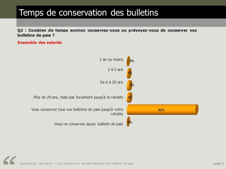 Temps de conservation des bulletins