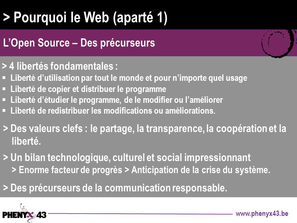 > Pourquoi le Web (aparté 1)