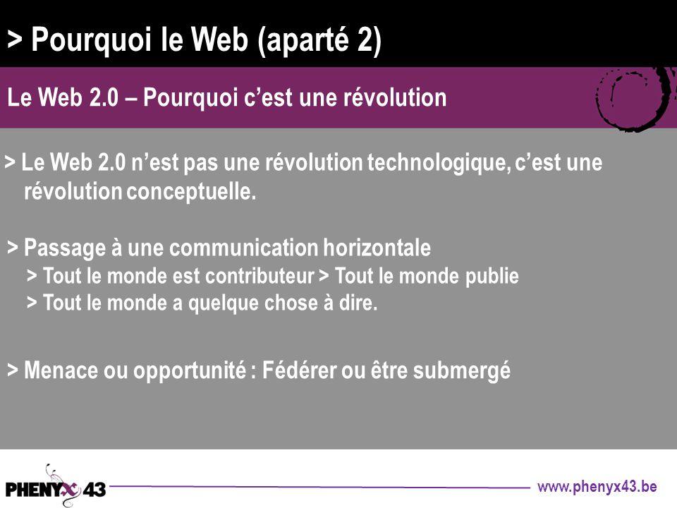 > Pourquoi le Web (aparté 2)