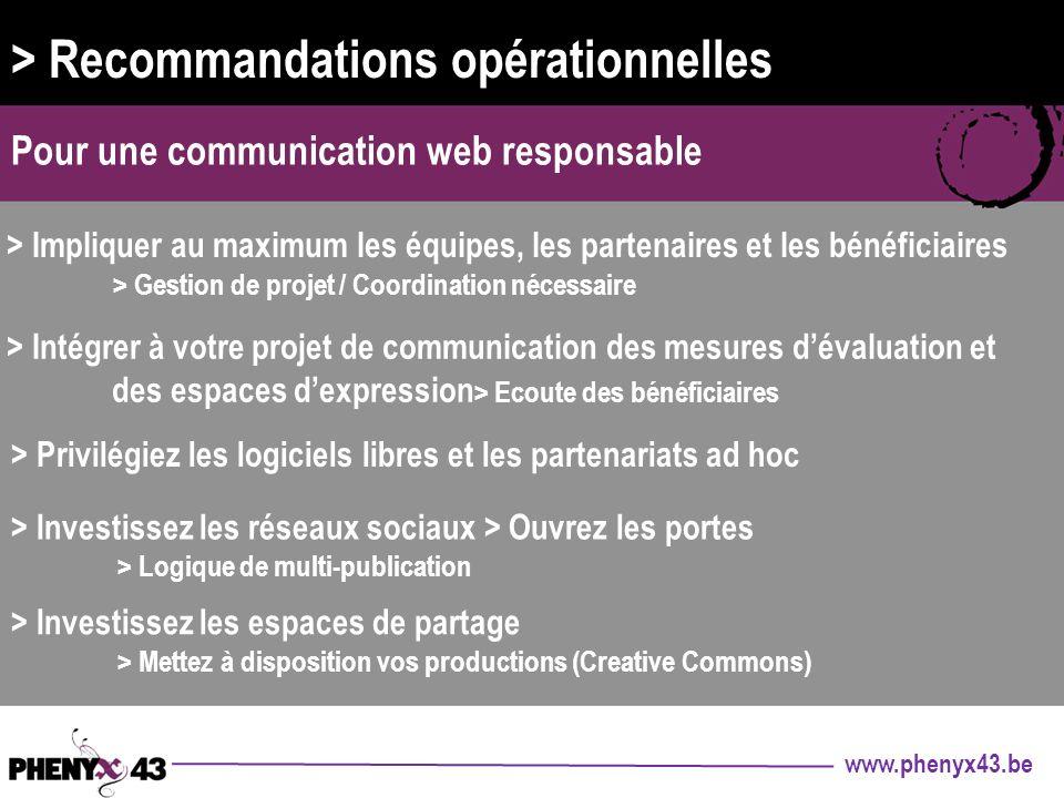 > Recommandations opérationnelles