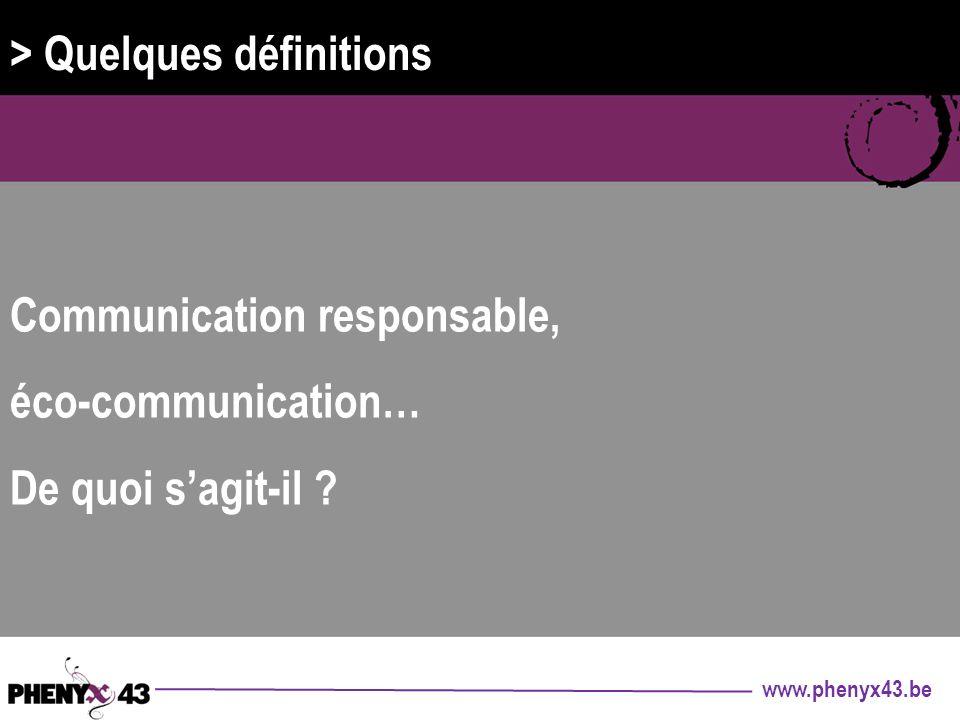 > Quelques définitions