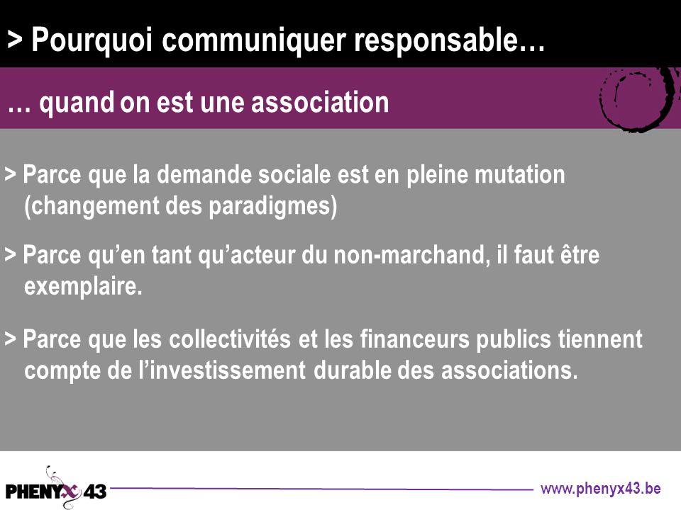 > Pourquoi communiquer responsable…