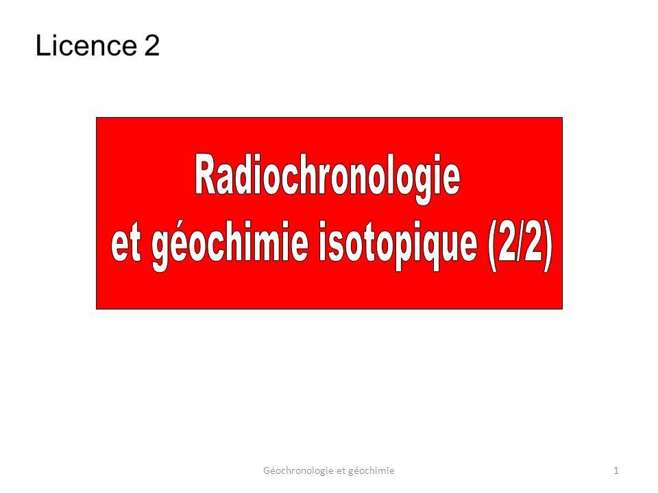 et géochimie isotopique (2/2)