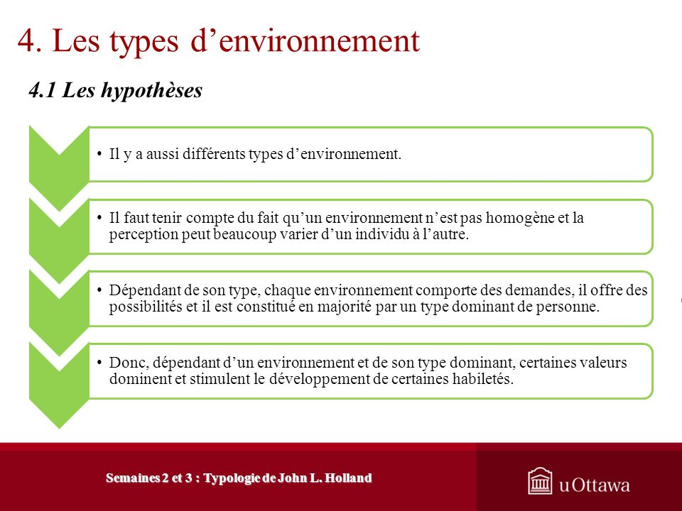 4. Les types d'environnement