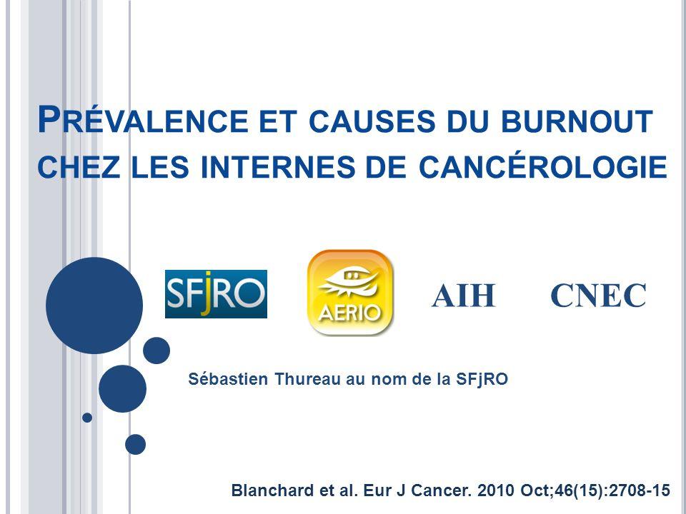Prévalence et causes du burnout chez les internes de cancérologie