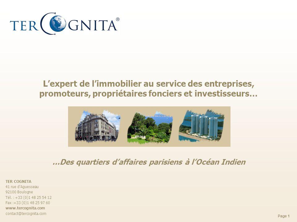 L'expert de l'immobilier au service des entreprises, promoteurs, propriétaires fonciers et investisseurs… …Des quartiers d'affaires parisiens à l'Océan Indien