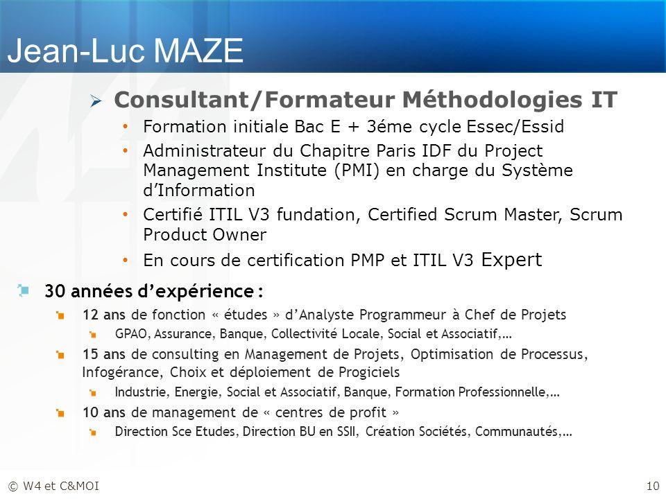 Jean-Luc MAZE Consultant/Formateur Méthodologies IT