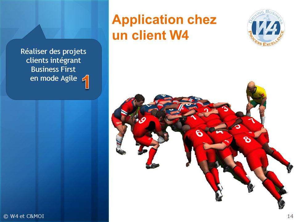 Application chez un client W4
