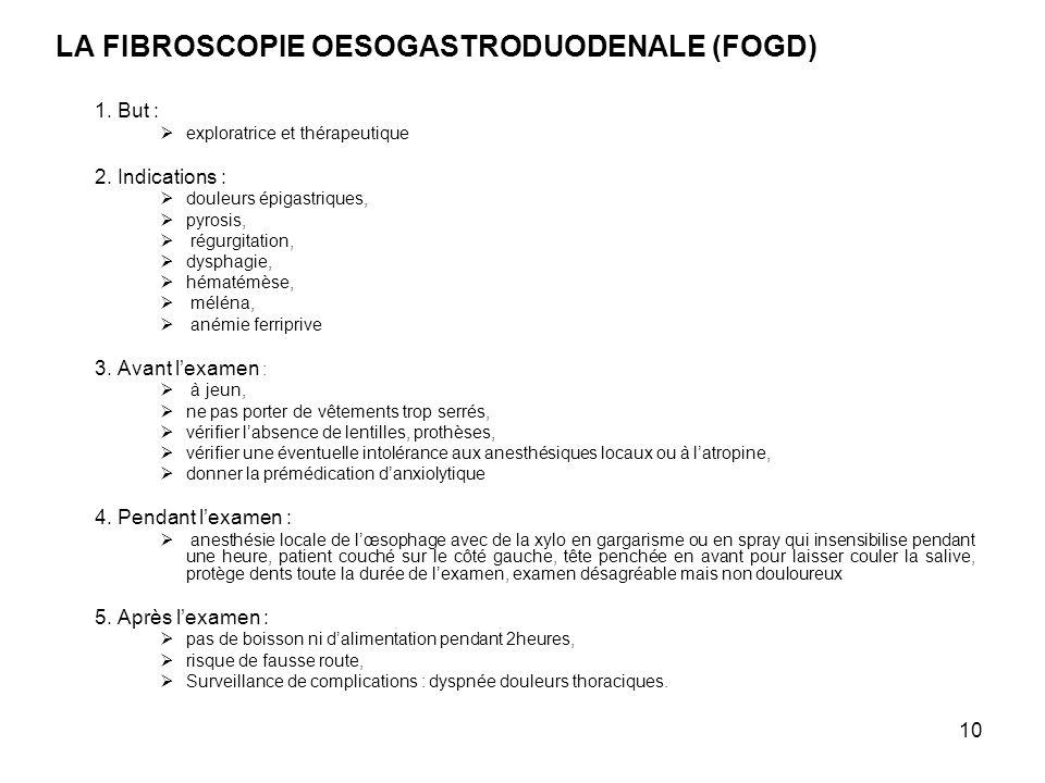 LA FIBROSCOPIE OESOGASTRODUODENALE (FOGD)