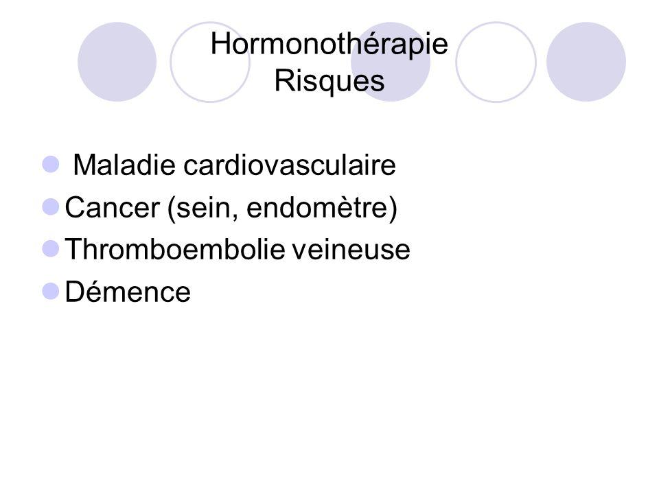 Hormonothérapie Risques