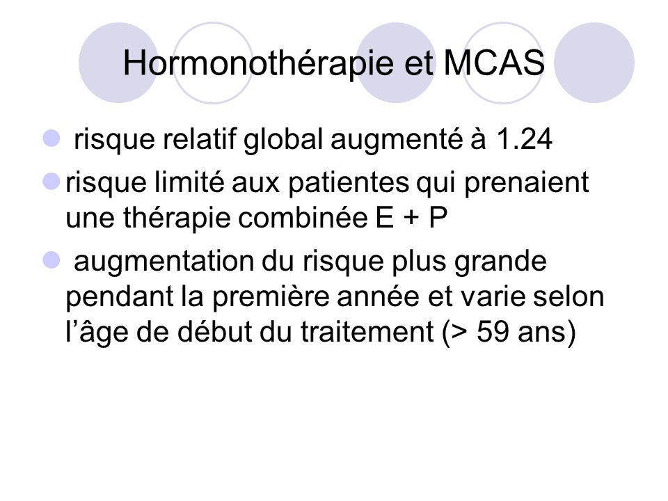 Hormonothérapie et MCAS