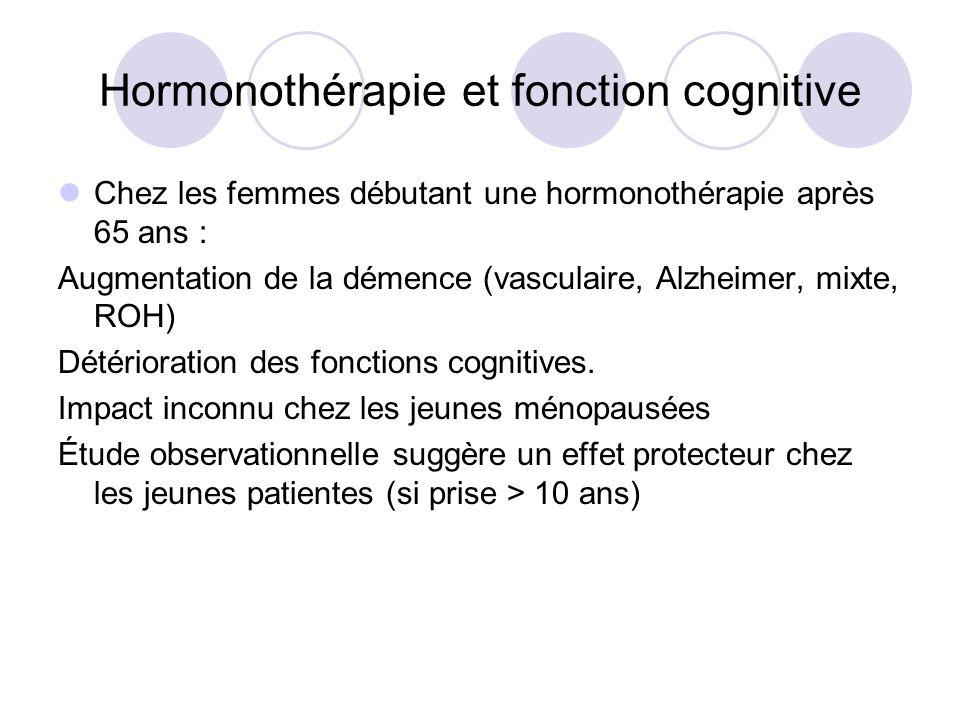 Hormonothérapie et fonction cognitive