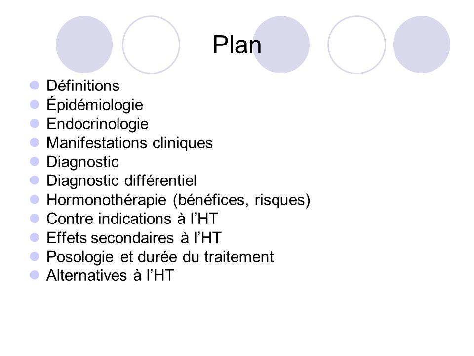 Plan Définitions Épidémiologie Endocrinologie Manifestations cliniques