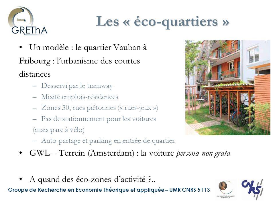 Les « éco-quartiers » Un modèle : le quartier Vauban à