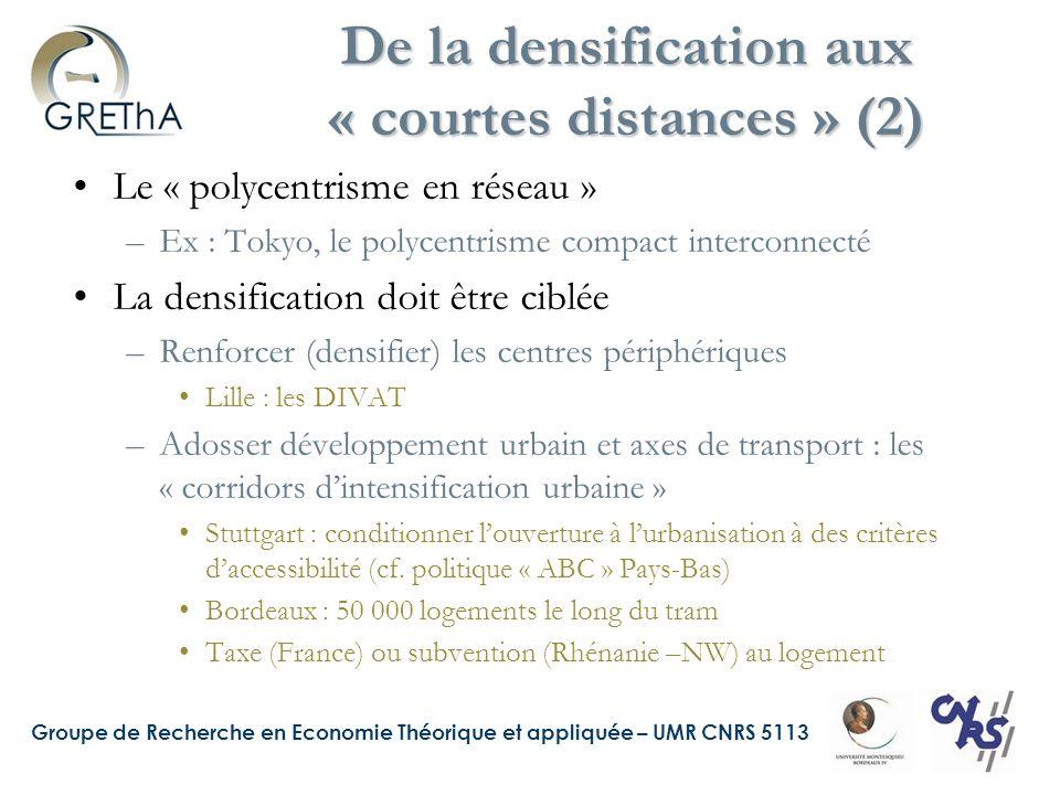De la densification aux « courtes distances » (2)