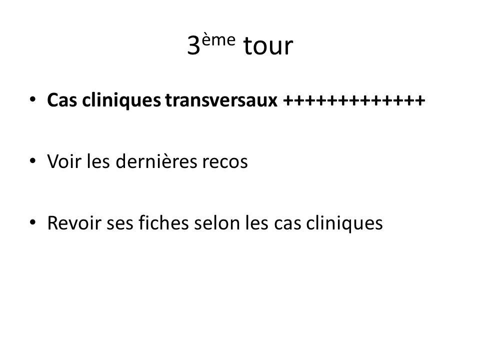 3ème tour Cas cliniques transversaux +++++++++++++