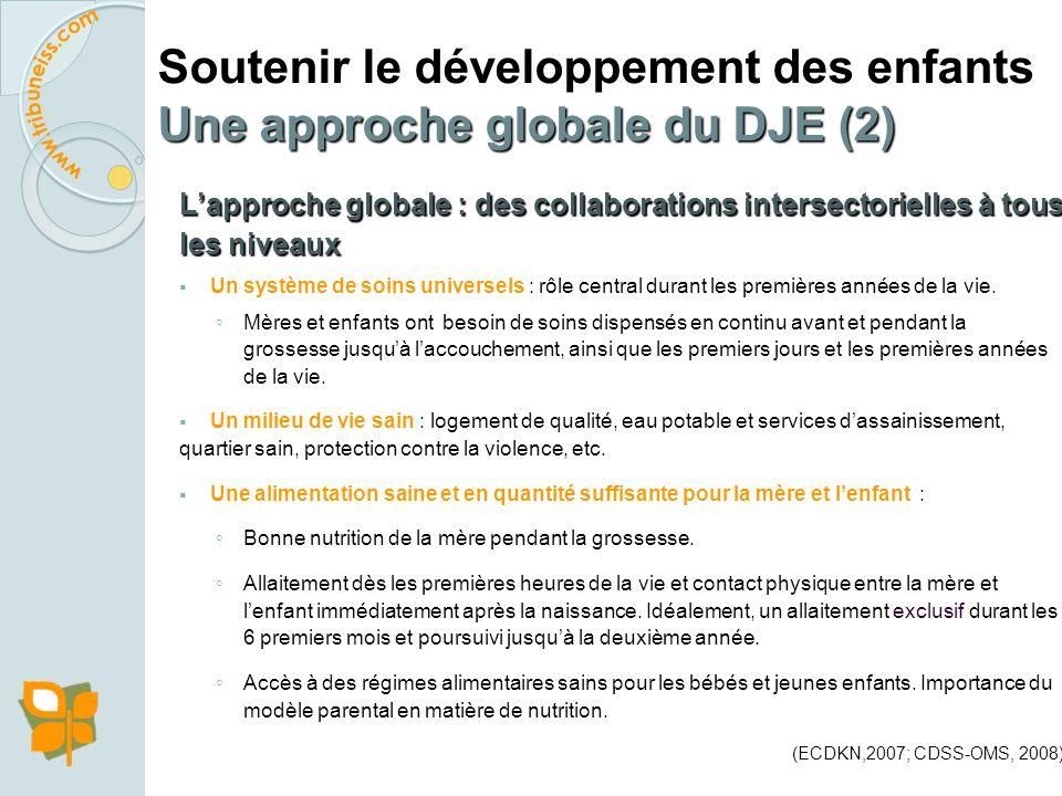 Soutenir le développement des enfants Une approche globale du DJE (2)