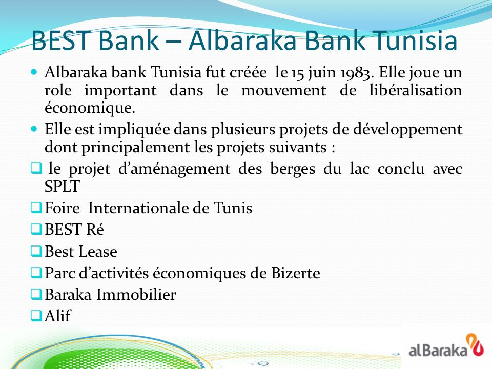 BEST Bank – Albaraka Bank Tunisia