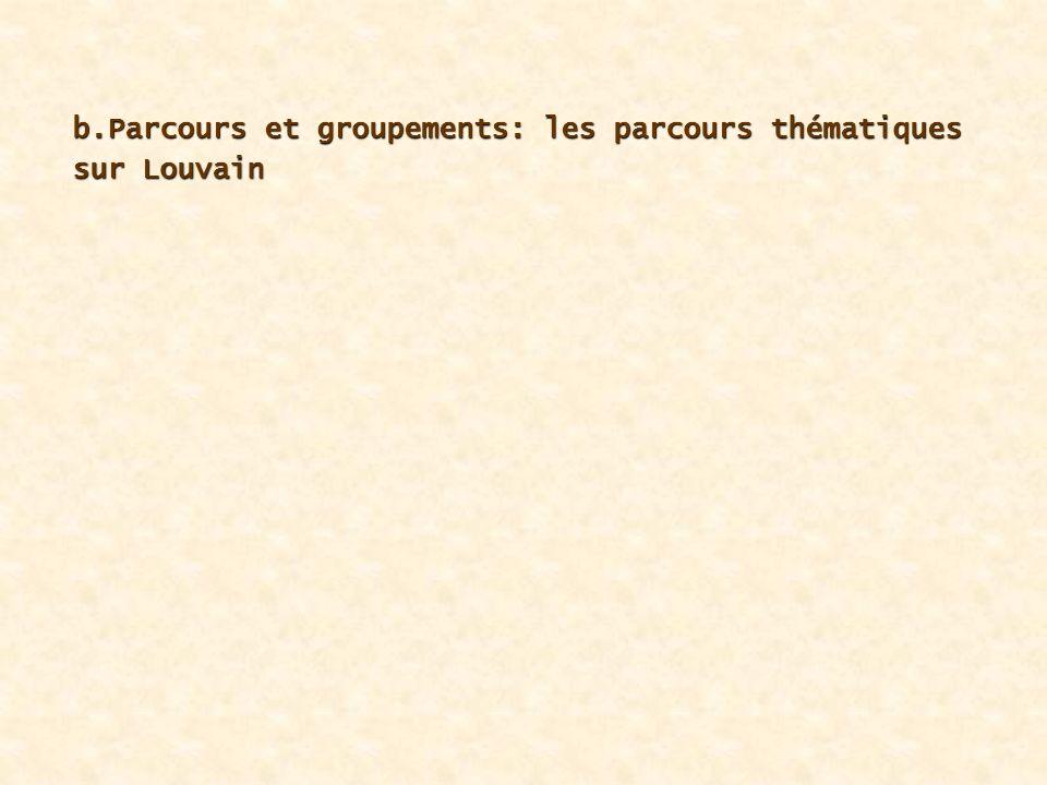 b.Parcours et groupements: les parcours thématiques sur Louvain