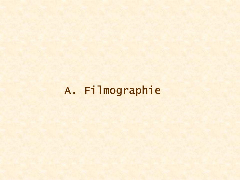 A. Filmographie