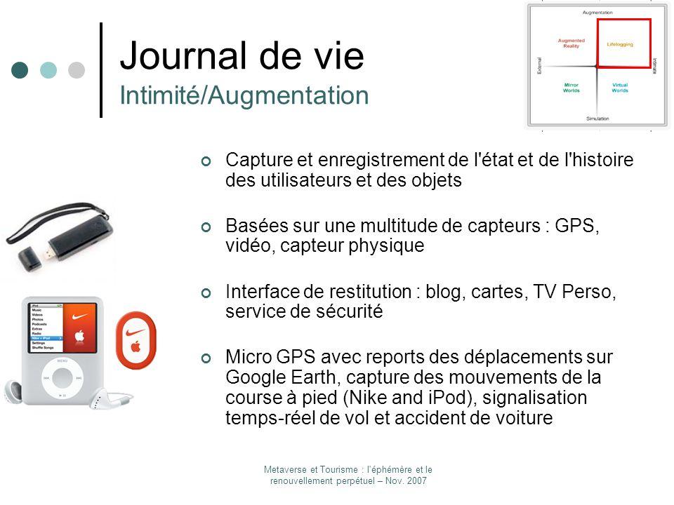 Journal de vie Intimité/Augmentation