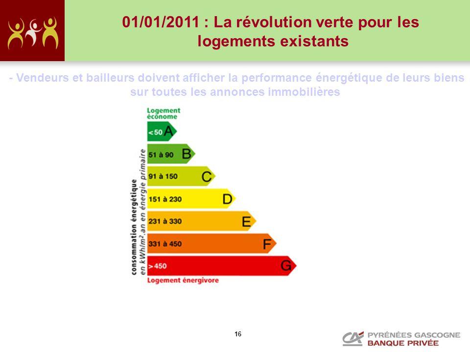 01/01/2011 : La révolution verte pour les logements existants