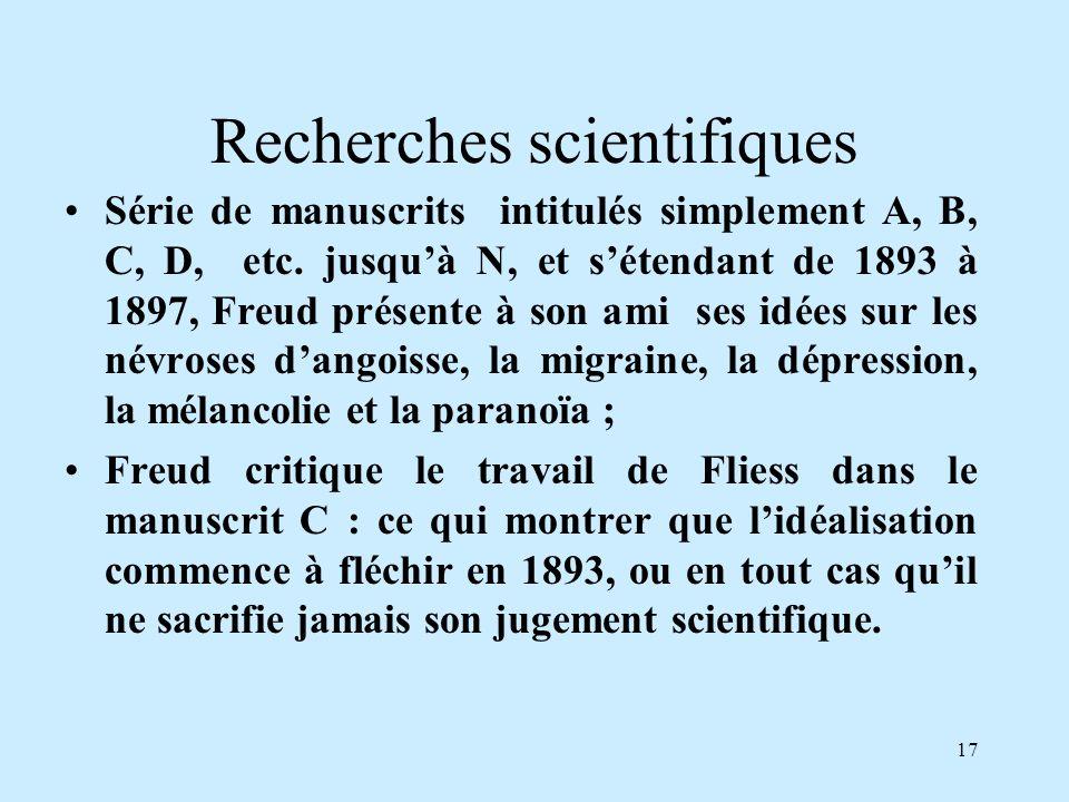 Recherches scientifiques