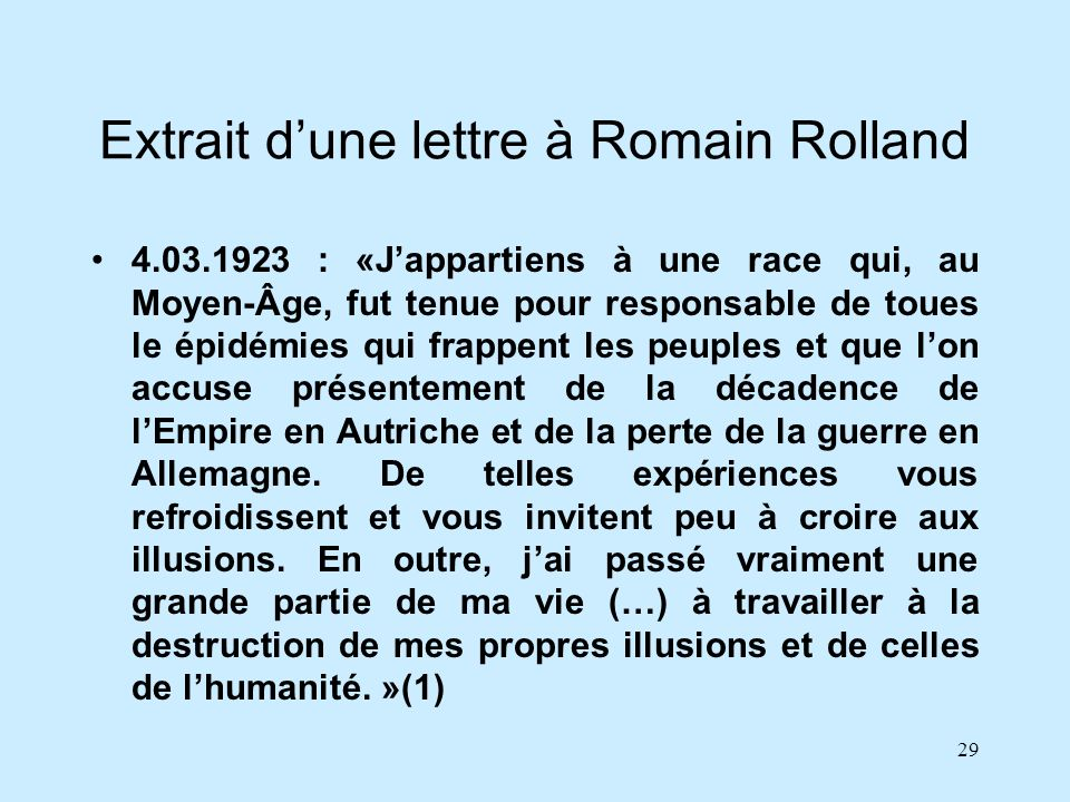 Extrait d'une lettre à Romain Rolland