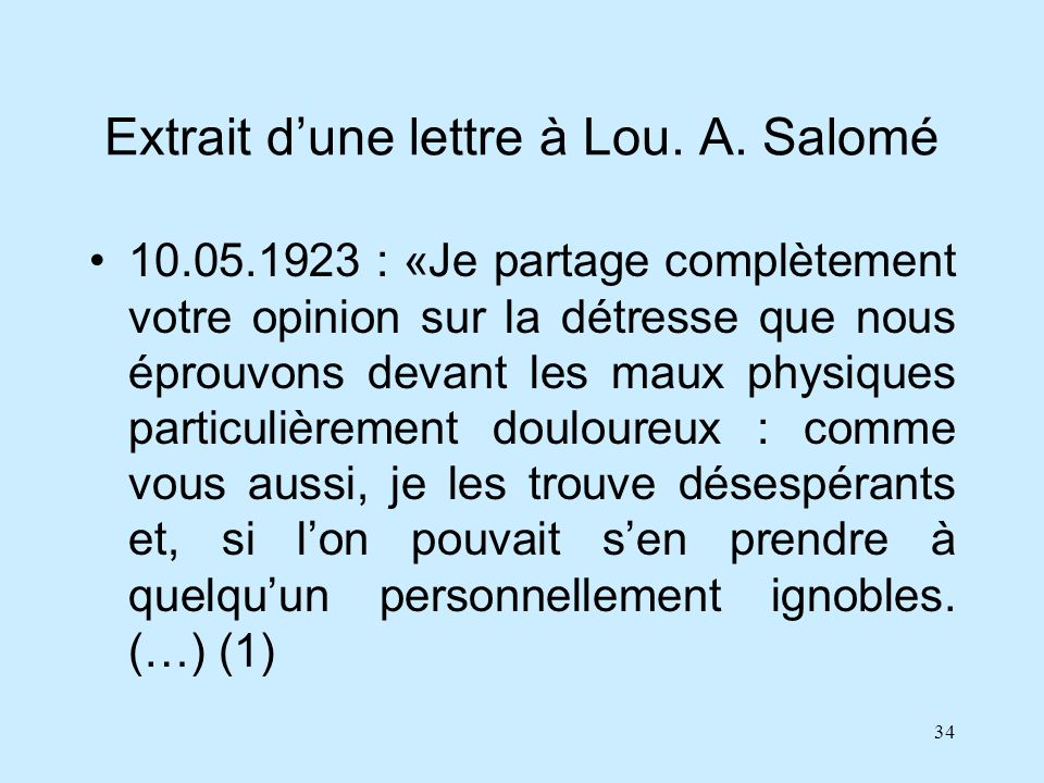 Extrait d'une lettre à Lou. A. Salomé