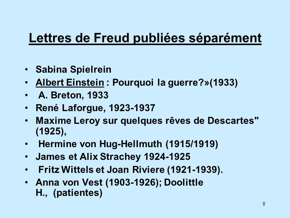 Lettres de Freud publiées séparément