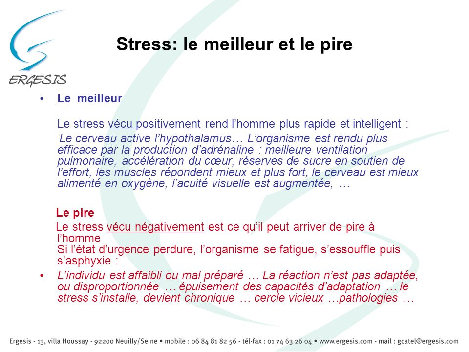 Stress: le meilleur et le pire