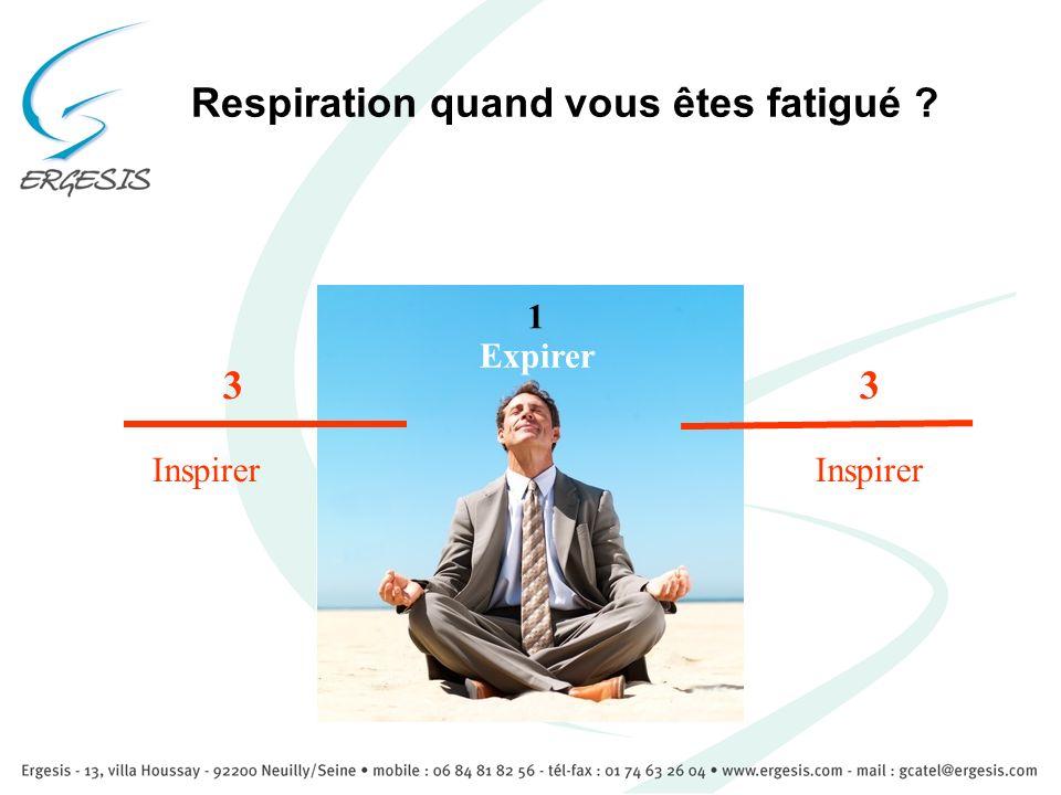 Respiration quand vous êtes fatigué