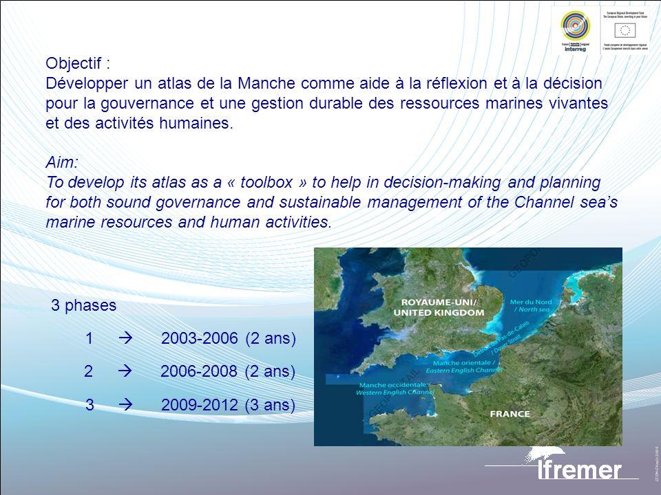 Objectif :Développer un atlas de la Manche comme aide à la réflexion et à la décision.
