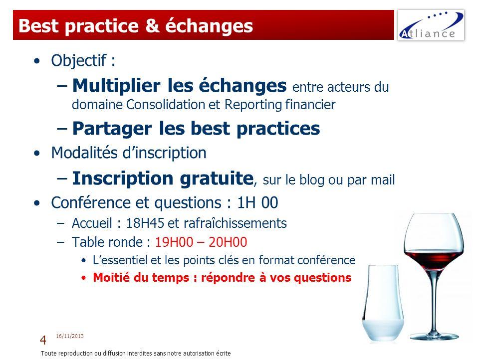 Best practice & échanges