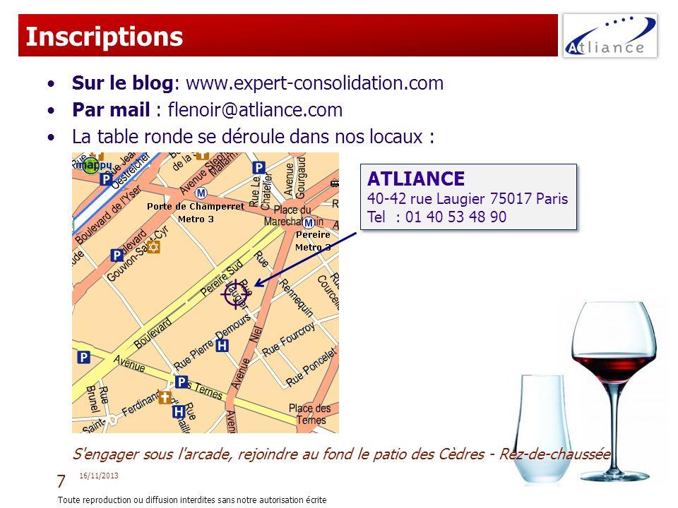 Inscriptions Sur le blog: www.expert-consolidation.com