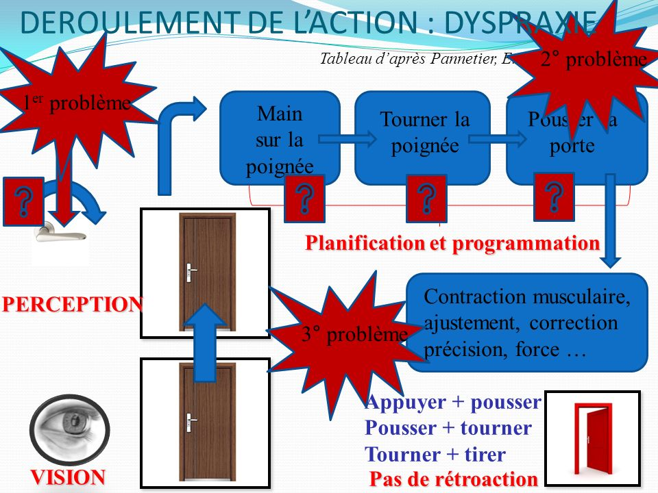 DEROULEMENT DE L'ACTION : DYSPRAXIE