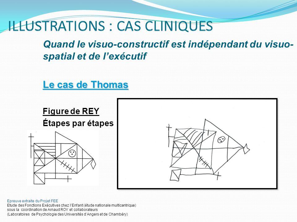 Quand le visuo-constructif est indépendant du visuo-spatial et de l'exécutif