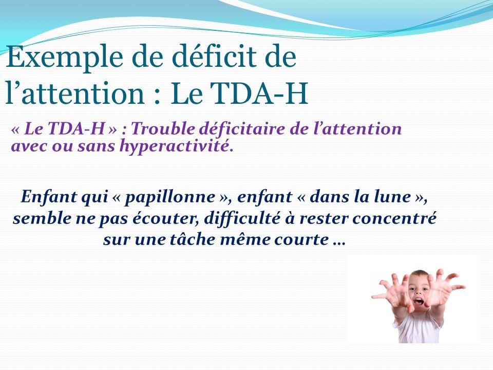 Exemple de déficit de l'attention : Le TDA-H