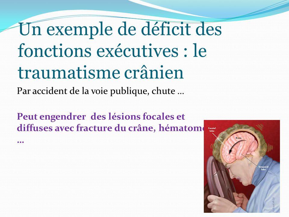Un exemple de déficit des fonctions exécutives : le traumatisme crânien