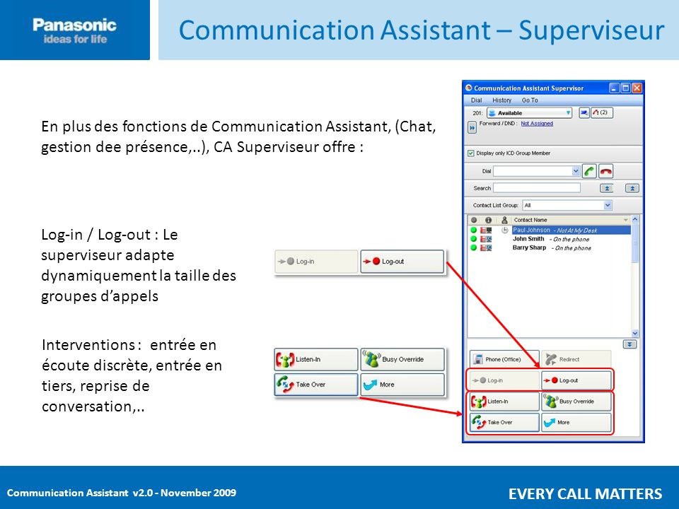Communication Assistant – Superviseur